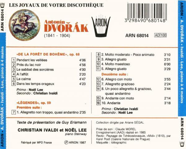 """""""Dvorak - """"""""De la Forêt de Bohème"""""""", Op. 68 - """"""""Légendes"""""""", Op. 59"""""""