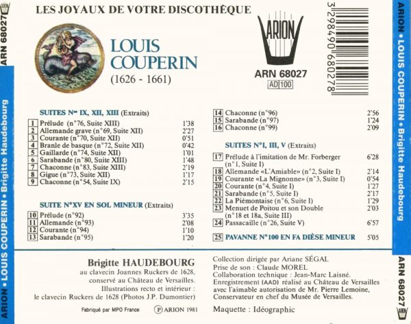 Couperin - Suites & Pavanne