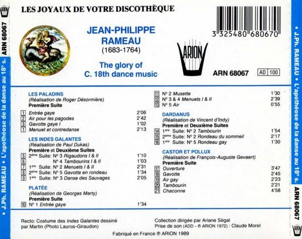 Rameau - L'Apothéose de la danse au XVIIème siècle