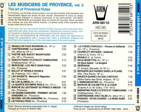 Les Musiciens de Provence Vol.2 - Flûtes Provencales