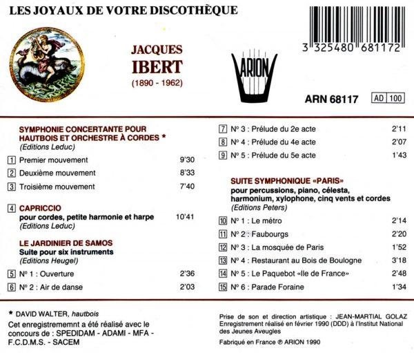 Ibert - Symphonie Concertante pour Hautbois...