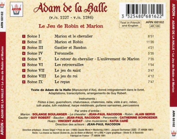 Adam de la Halle - Le Jeu de Robin et Marion