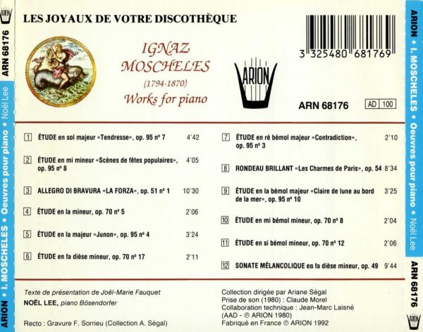 Moscheles - Œuvres pour Piano