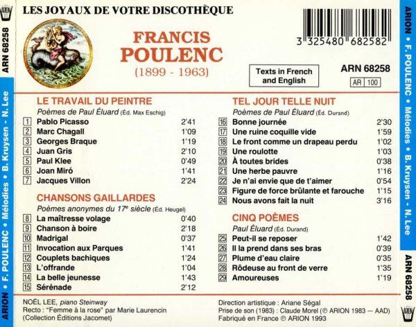 Poulenc - Mélodies