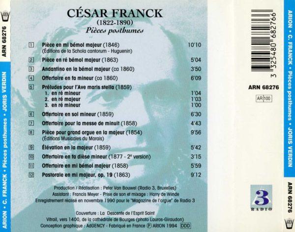César Franck - Pièces Posthumes