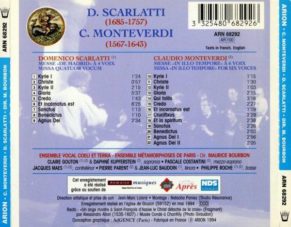 """""""Monteverdi / Scarlatti - Messe """"""""In Illo Tempore"""""""" à Six Voix / Messe """"""""de Madrid"""""""""""""""