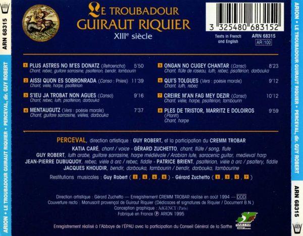 Guiraut Riquier - Le Troubadour