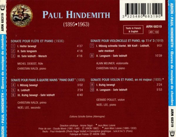 Hindemith - Œuvres de Musique de Chambre