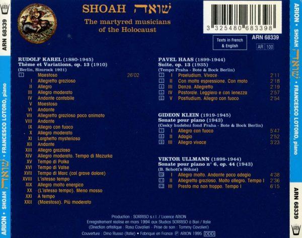 Shoah - Les Musiciens Martyres de l'Holocauste