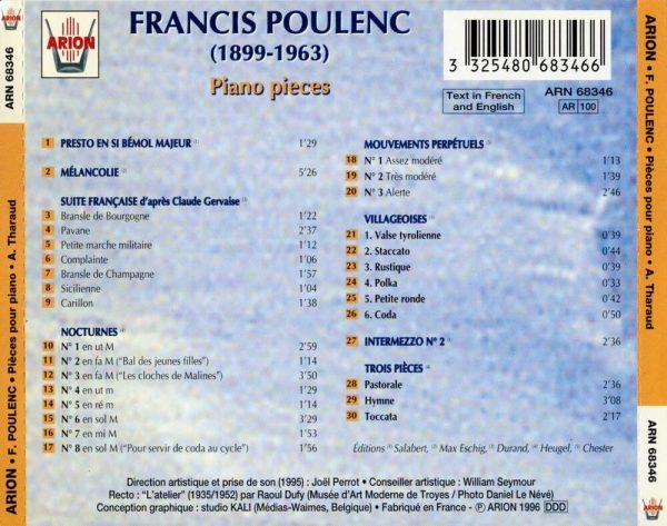Poulenc - Pièces pour Piano