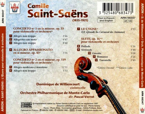 Saint-Saëns - L'Œuvre pour violoncelle & orchestre