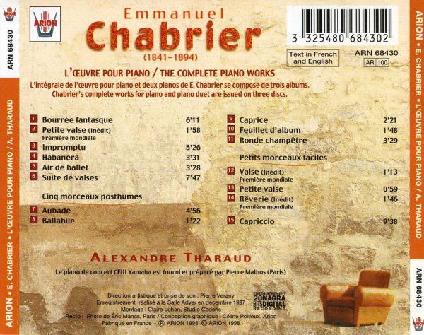 Chabrier - L'Œuvre pour piano - Vol.1
