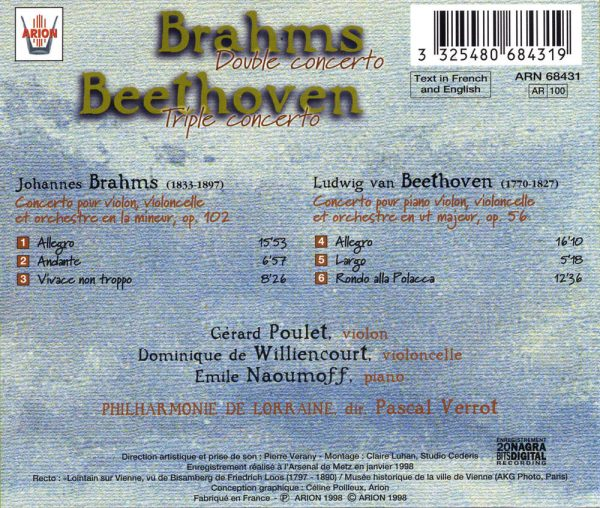 Brahms / Beethoven - Double & Triple Concerto