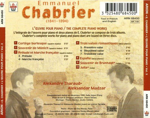 Chabrier - L'Œuvre pour piano - Vol.3