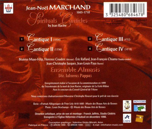 Marchand - Cantiques spirituels de Jean Racine