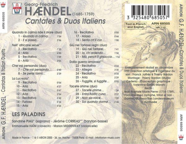 Haëndel - Cantates & Duos Italiens