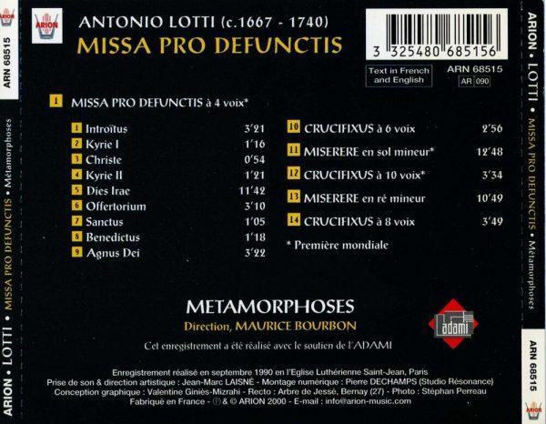 Lotti - Missa Pro Defunctis