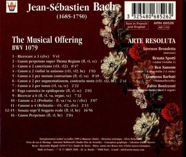 Bach J.S. - L'Offrande musicale, Bwv 1079