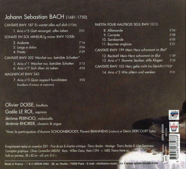Bach J.S. - Pièces pour hautbois & Airs de Cantates