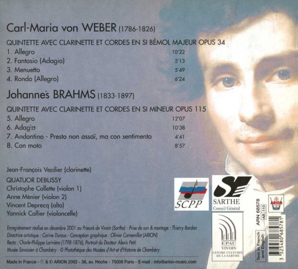 Brahms / Weber - Quintettes avec clarinette