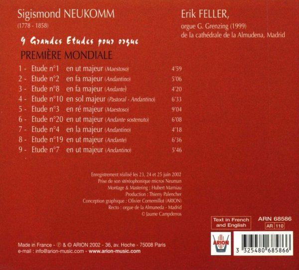 Neukomm - 9 grandes études pour orgue