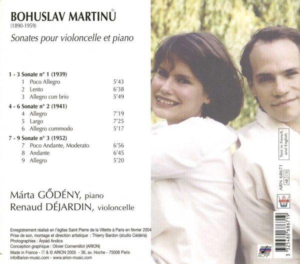 Martinu - Sonates pour violoncelle & piano