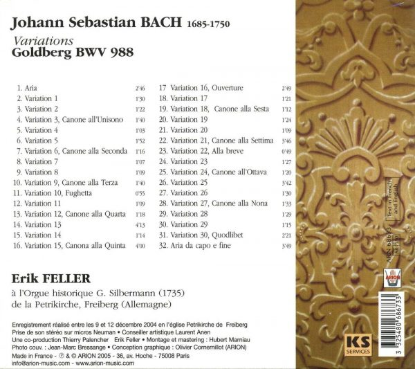 Bach J.S. - Variations Goldberg, Bwv 988