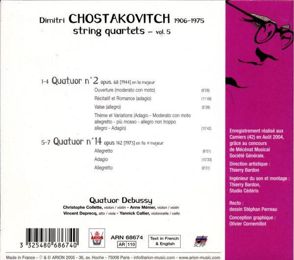 Chostakovitch - Quatuors à cordes N°2 & 14 - Vol.5