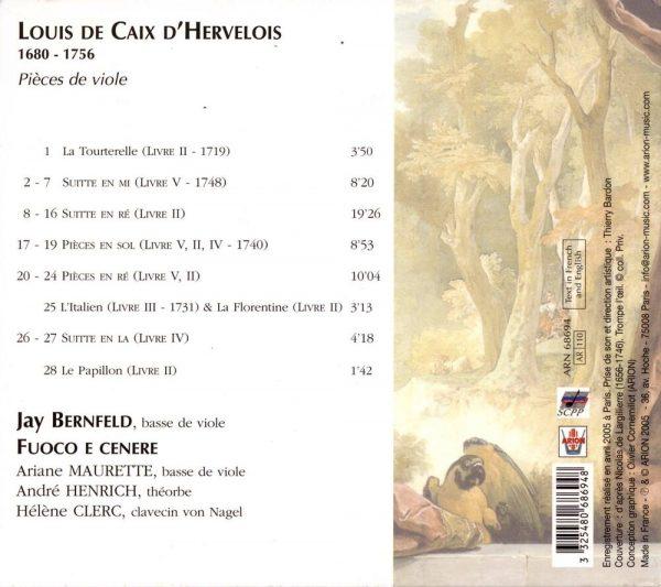 Caix d'Hervelois - Pièces de viole