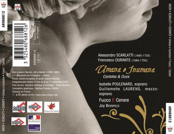 """""""Scarlatti / Durante - Cantates """"""""Umana e Inumana"""""""""""""""