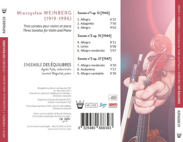 Weinberg - 3 Sonatas for violin and piano, N°1,2 et 3 - Vol.1