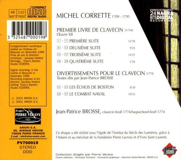 Corrette - Premier Livre de clavecin (Œuvre XII) et Divertissements