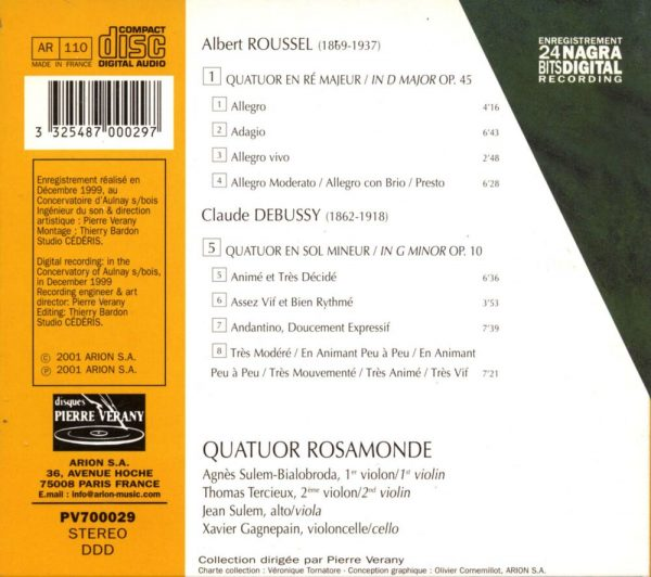 Roussel / Debussy - Quatuor à cordes