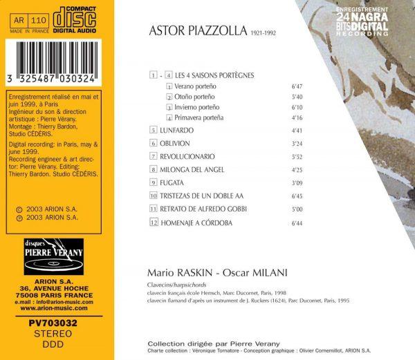 Piazzolla - Tangos pour 2 clavecins - Vol. 2