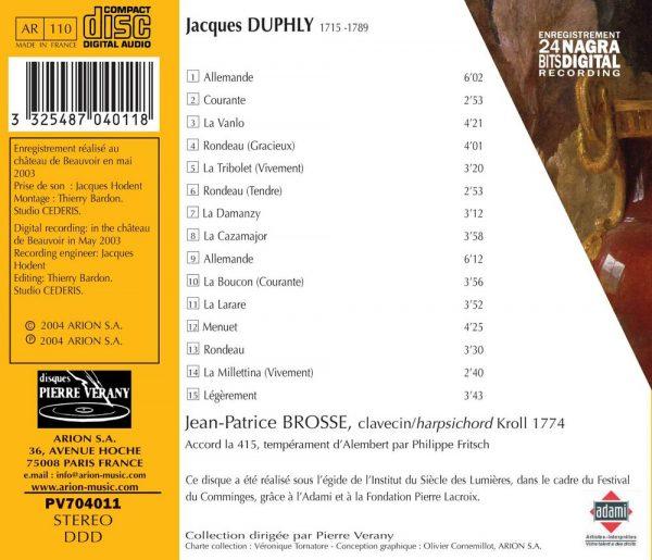 Duphly - Pièces de clavecin - Premier Livre (1744)