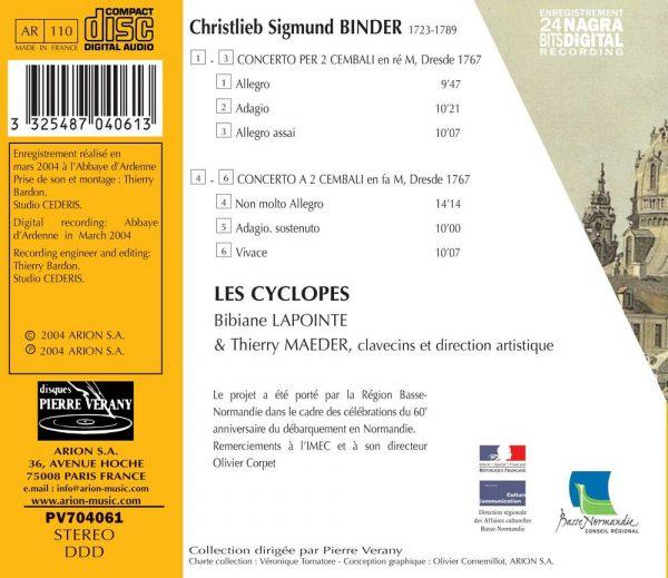 Binder - Concerto per 2 cembali