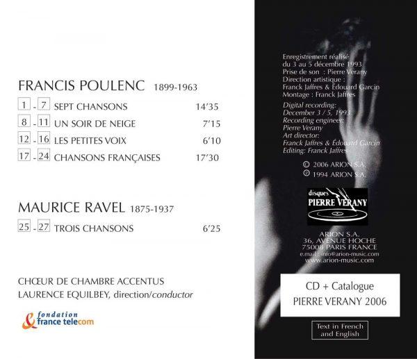Poulenc / Ravel - Catalogue Vérany 2006 - Choeur Accentus