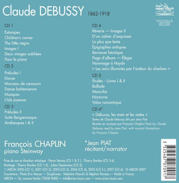 L'Intégrale de Debussy par Francois Chaplin