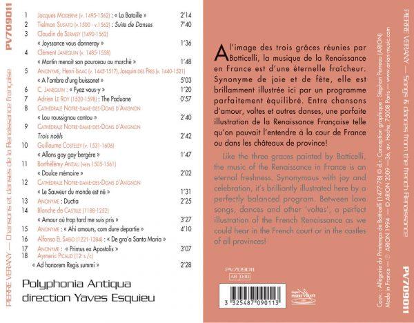 Chansons et Danse de la Renaissance Française