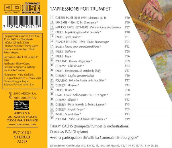 """""""""""""""Impressions pour Trompette"""""""""""""""