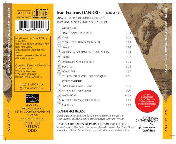 Dandrieu - Messe & vêpres du jour de Pâques