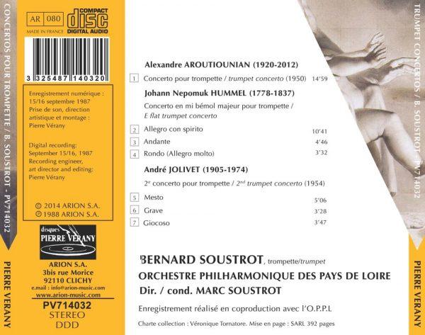 Aroutiounian/Hummel/Jolivet - Concertos pour trompette
