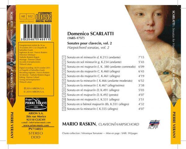 Scarlatti - Sonates pour clavecin Vol.2
