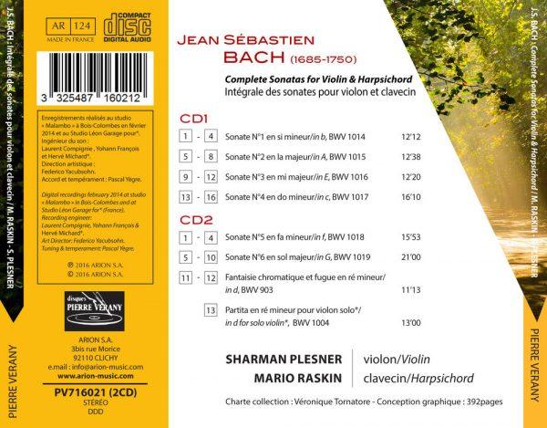 Bach J.S. - Intégrale des Sonates pour clavecin et violon