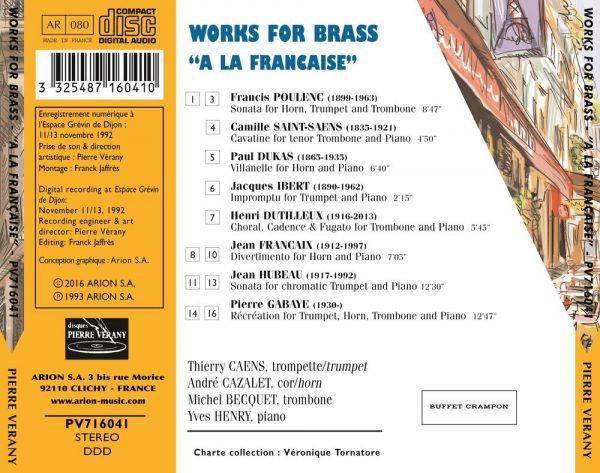 A la Française - Works for Brass