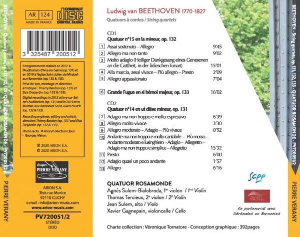 Beethoven - Quatuors à cordes