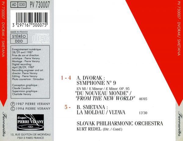 Dvorak/Smetana - Symphonie du Nouveau Monde - La Moldau