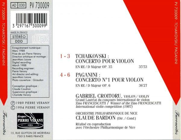 Tchaïkovski/Paganini - Concertos pour violon