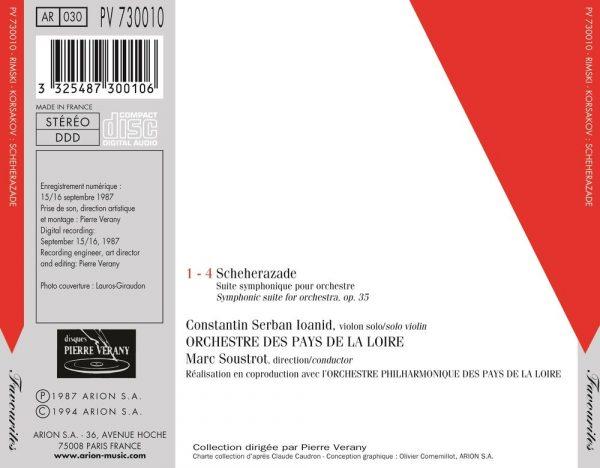 """Rimsky-Korskov - """"Sheherazade"""" Suite Symphonique pour orchestre, Op. 35"""