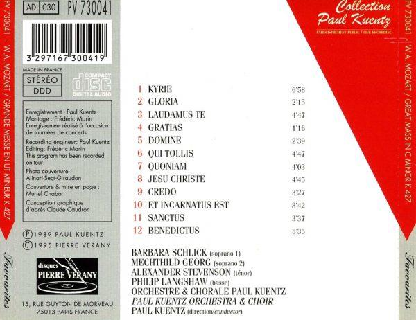 Mozart - Grande Messe en ut mineur, K 427